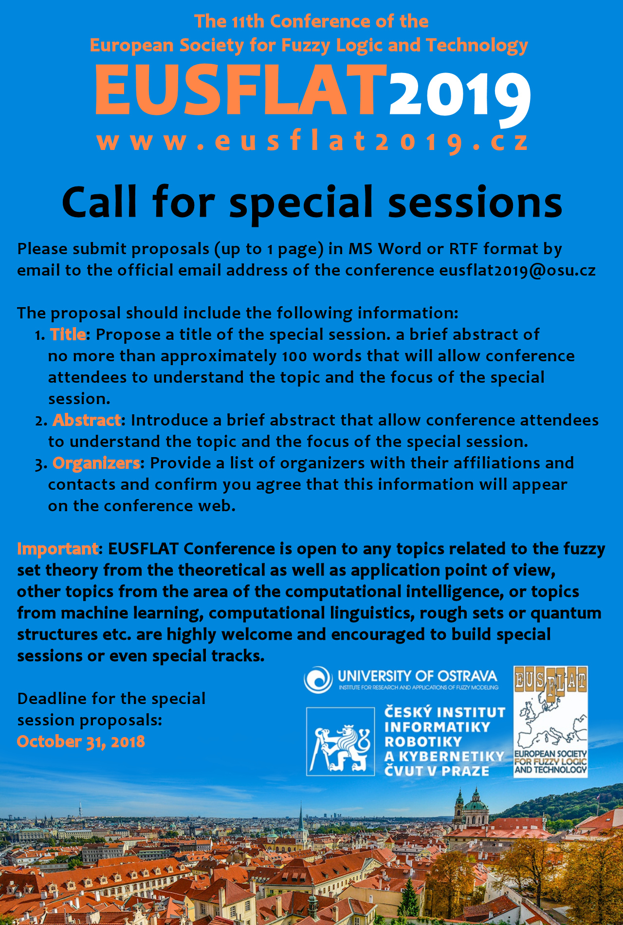 EUSFLAT 2019 special sessions